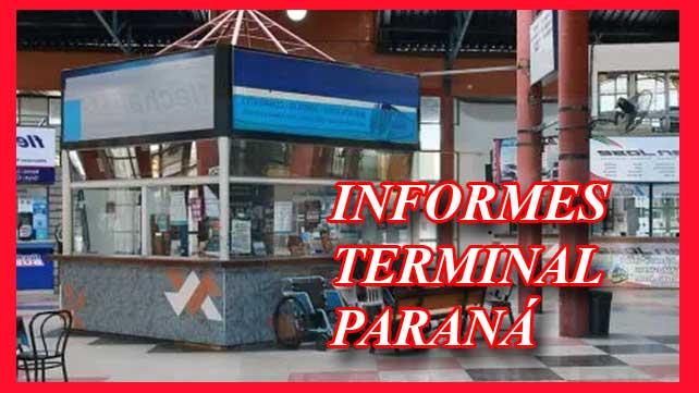 Oficinas de informes terminal de parana